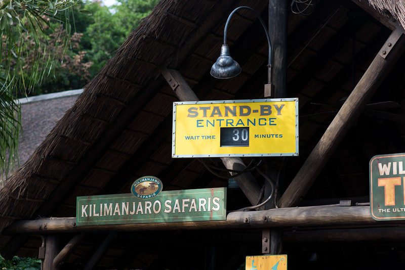 Kilimanjaro Safaris Wait Time Sign - Animal Kingdom Walt Disney World