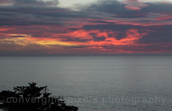 Sunset at Pfeiffer Burns State Park.