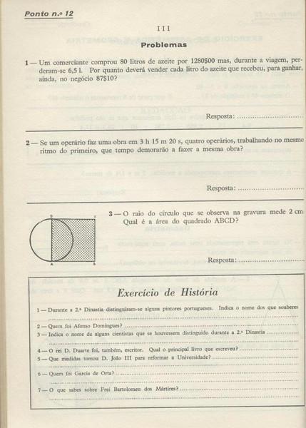 Exame: Problemas e Historia