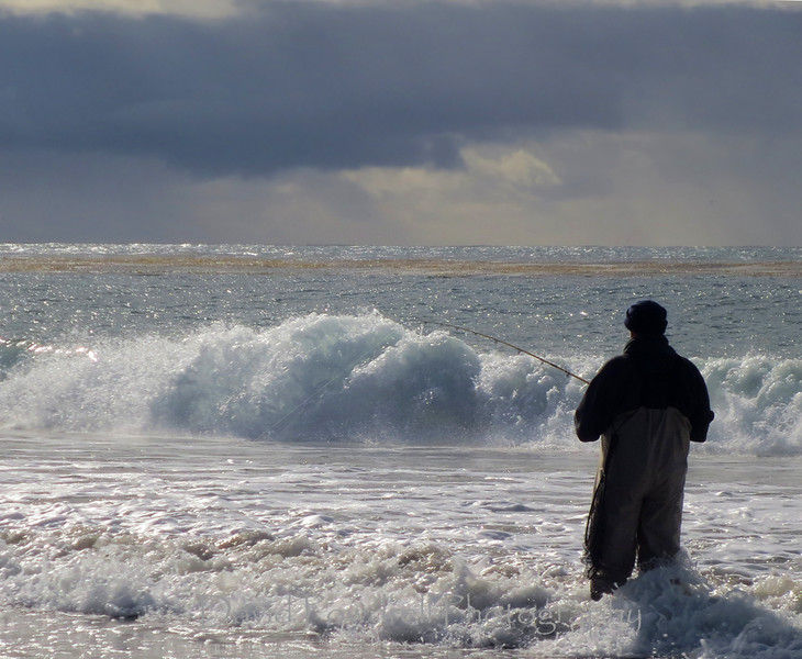 Fisherman in the storm.