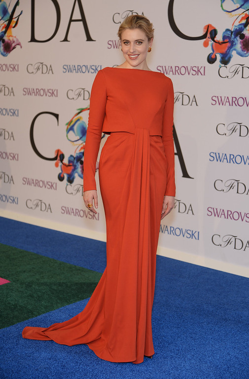 . Actress Greta Gerwig attends the 2014 CFDA fashion awards at Alice Tully Hall, Lincoln Center on June 2, 2014 in New York City.  (Photo by Dimitrios Kambouris/Getty Images)