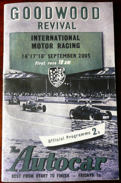 Goodwood Revival 2005 Program cover