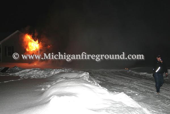 1/12/09 - Dansville garage fire, 1540 S Meridian