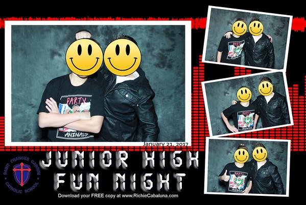 Saint Frances Cabrini Junior High Fun Night January 2017