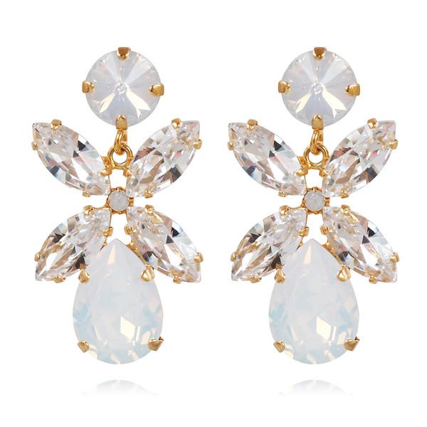 Dione Earrings / Crystal + White Opal