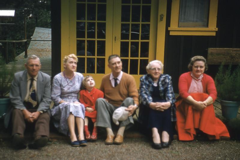Family at Boulder Creek 1957