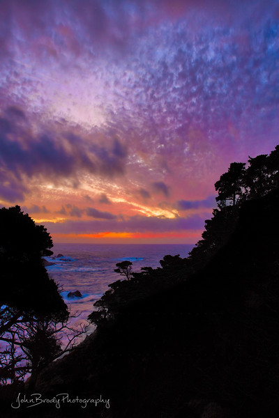 Portrait of a Multi-Colored Sunset near Monterey at Point Lobos on the California Coast  -  JohnBrodyPhotography  - JohnBrody.com