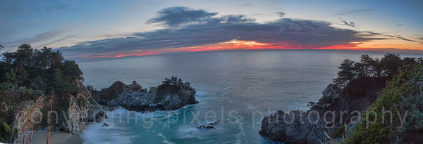 Sunset at Pfeiffer Burns State Park.