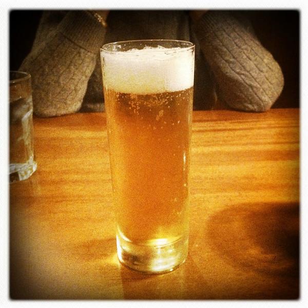 4 Dec 2012: Beer at dinner