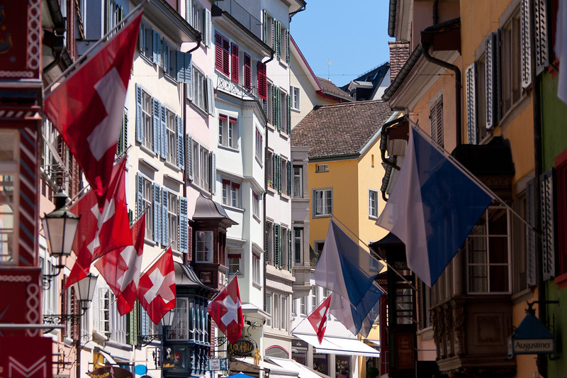 Augustinergasse in Lindenhof quarter in Zurich, Switzerland