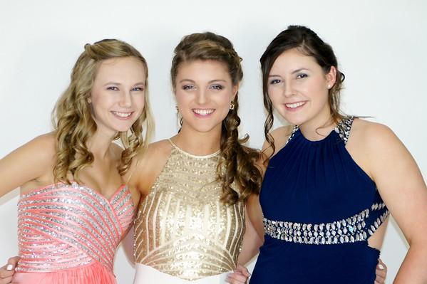 Kristen, Haley & Kaylyn Prom 2016