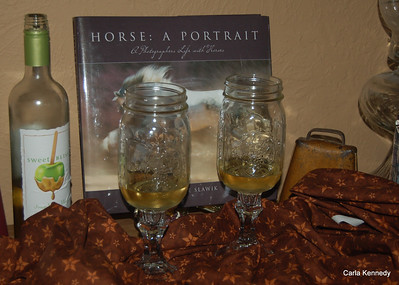 2013 09-22 Pam & I made Red Neck Wine Glasses
