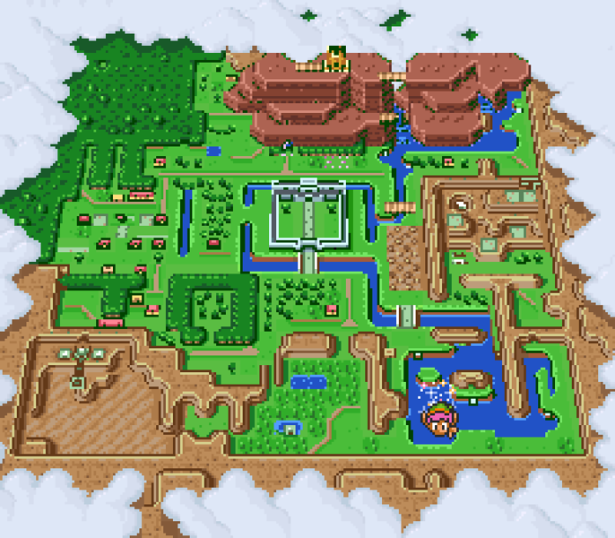 A Link to the Past world map