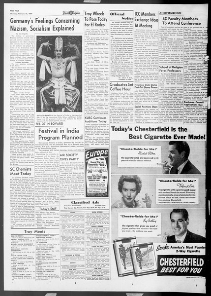 Daily Trojan, Vol. 45, No. 76, February 18, 1954