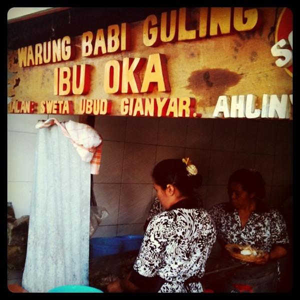 Ibu Oka in Ubud -last lunch in #Bali