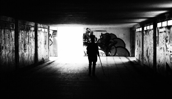 Silhouettes in a Tunnel