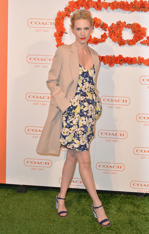 . Actress January Jones attends the 3rd Annual Coach Evening to benefit Children\'s Defense Fund at Bad Robot on April 10, 2013 in Santa Monica, California.  (Photo by Alberto E. Rodriguez/Getty Images)