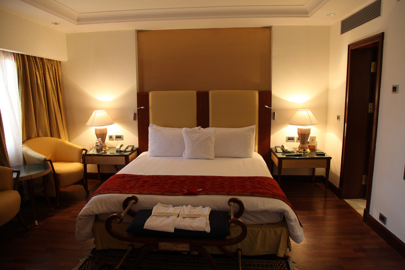 The hotel room at the ITC Mughal in Agra - free rooms with hotel points are great!