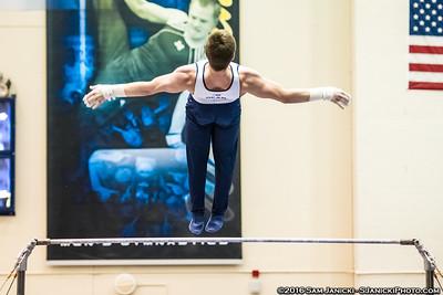 High Bar - UM Men's Gymnastics Vs UIC 3-26-16