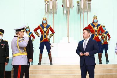 Монгол Улсын Ерөнхийлөгч Х.Баттулга цэргийн дээд цол гардууллаа