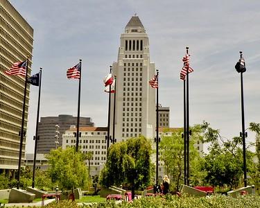 L.A., Grand Park Flag Court