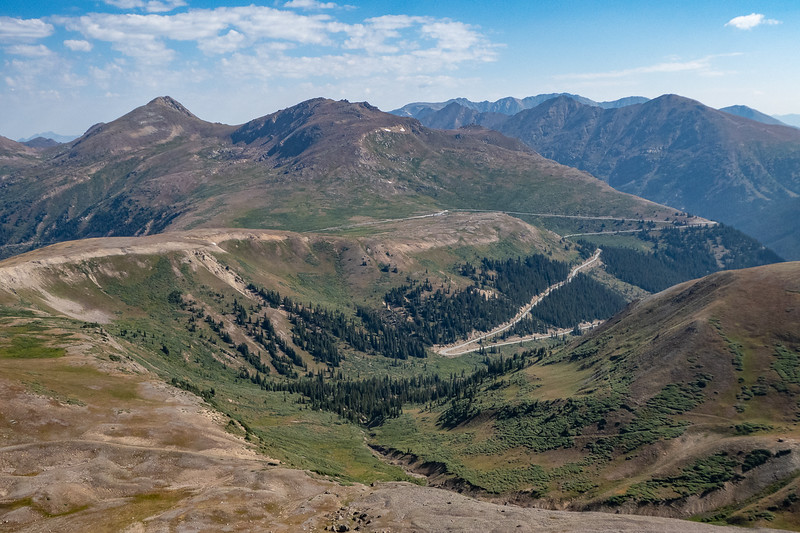 Looking back at Independence Pass from Pt 12,816