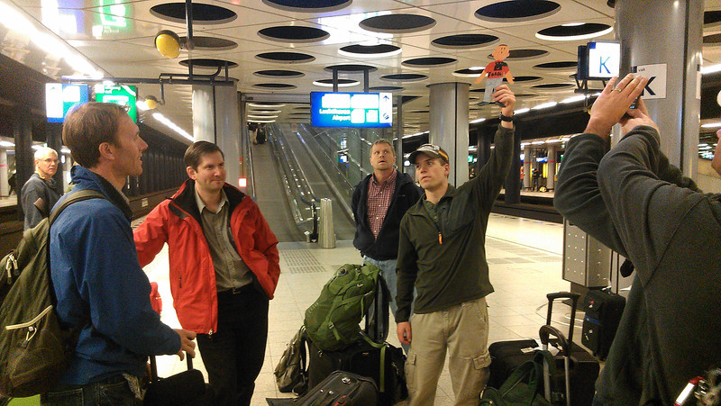 Flat Stanley arriving in Amsterdam airport.jpg