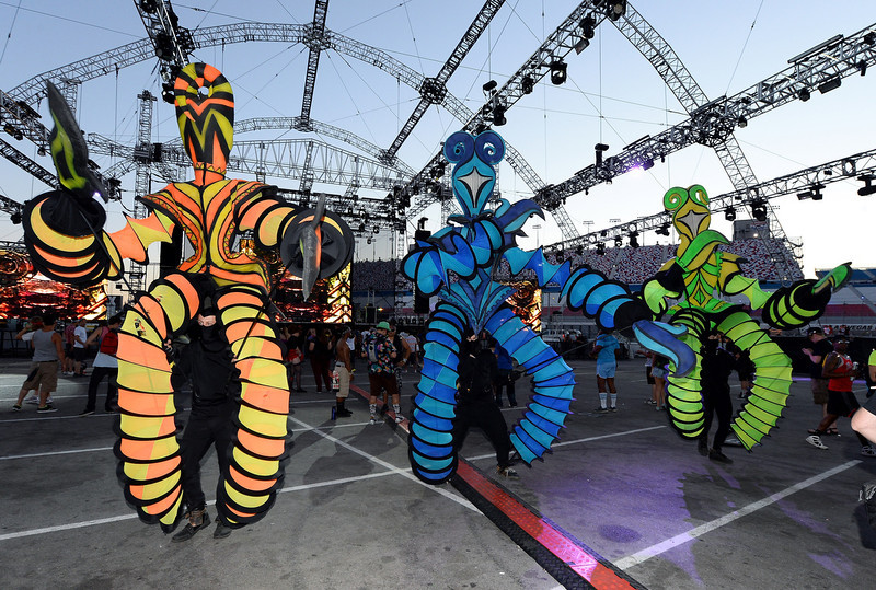 . Performers appear at the 17th annual Electric Daisy Carnival at Las Vegas Motor Speedway on June 22, 2013 in Las Vegas, Nevada.  (Photo by Ethan Miller/Getty Images)