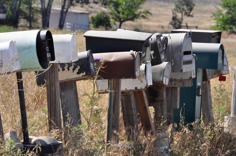 Mailboxes outside Julian, CA