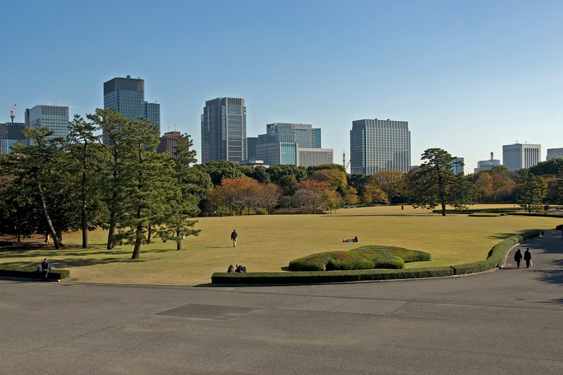 Landscape view of the Imperial Garden Park - Tokyo, Japan