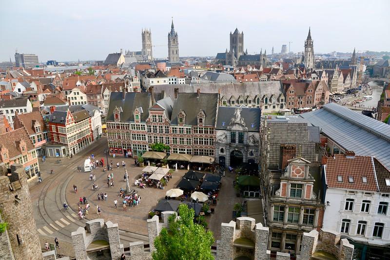 View from Gravensteen - Ghent, Belgium