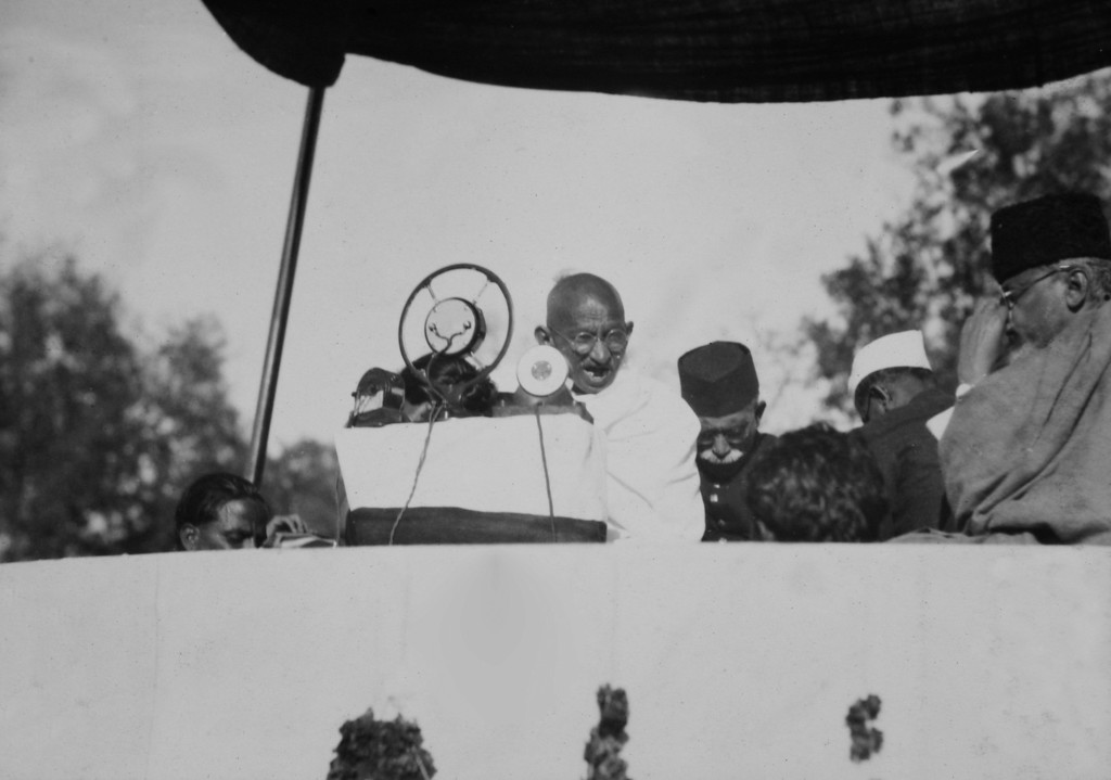 . Mahatma Gandhi in a photo from a period album collected by AP reporter James A. Mills, ca. 1931. (AP Photo/James A. Mills)