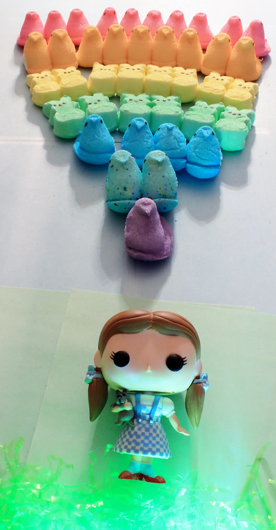 ". ""Over the PEEP-Rainbow,\"" by Julie Flynn, Worcester, Mass."