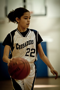 Jan 8 - 7th Gr Girls White Basketball vs SEAS