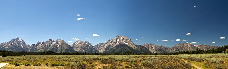 Teton Range from the valley floor