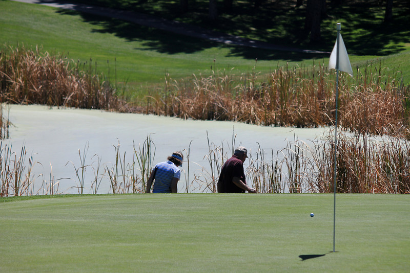 #11 Green, The Creek at Qualchan GC,  Spokane, Wa. Another lost ball