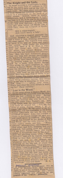Newspaper clipping part 3
