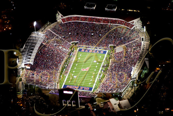 Aerial - Egg Bowl - Ole Miss vs Miss St