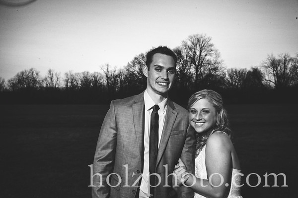 Bryana & Brandon B/W Wedding Photos