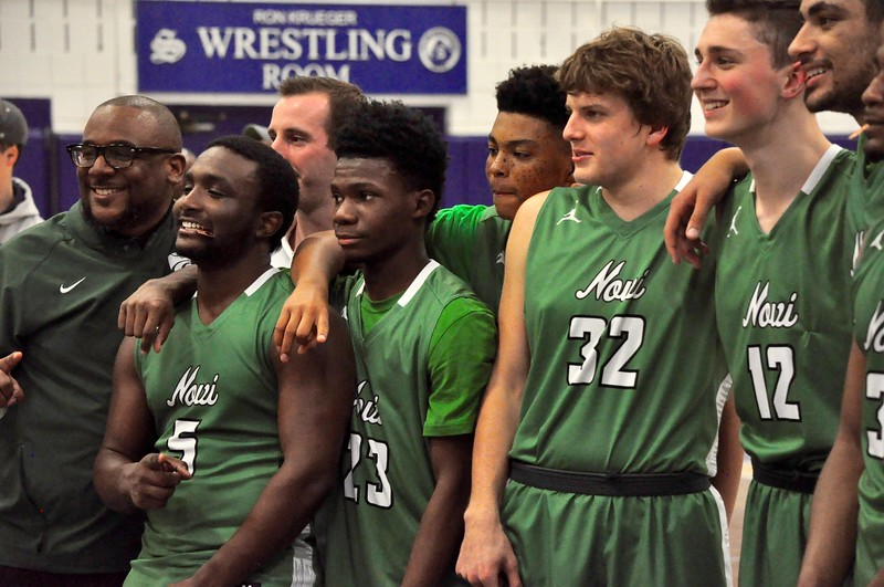 Novi defeated Ann Arbor Skyline, 61-59, in a Class A regional final at Salem High School on Wednesday, March 14, 2018. (Photo gallery by Dan Fenner/The Oakland Press)