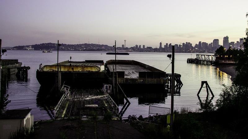 2014.10.05 - Seattle during sunrise...from Jack Block park in Alki