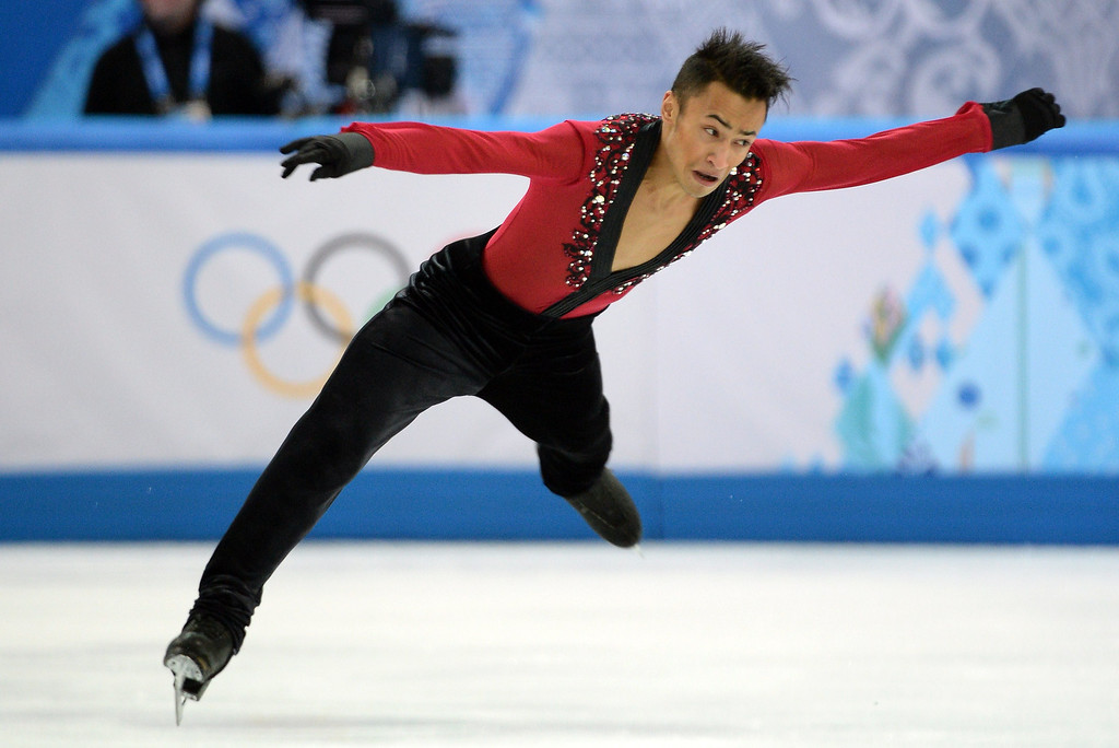. France\'s Florent Amodio performs during the Men\'s Figure Skating Short Program at the Iceberg Skating Palace during the Sochi Winter Olympics on February 13, 2014.  JUNG YEON-JE/AFP/Getty Images
