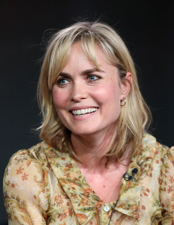 ". Actress Radha Mitchell of ""Red Widow\"" speaks onstage during the ABC portion of the 2013 Winter TCA Tour at Langham Hotel on January 10, 2013 in Pasadena, California.  (Photo by Frederick M. Brown/Getty Images)"