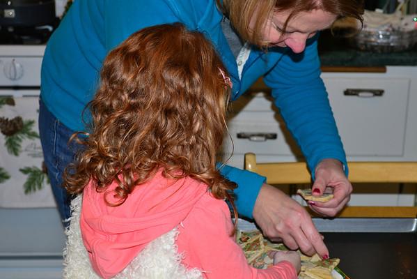 Ellie making cookies Dec 2012