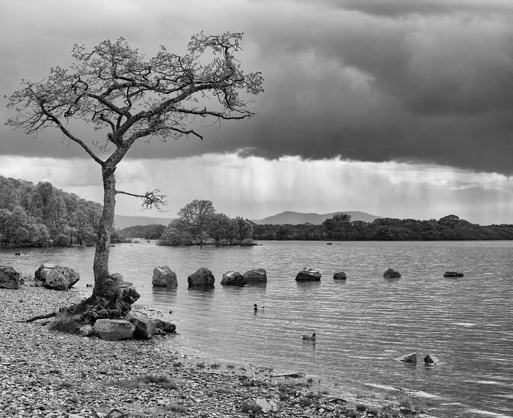 Weather coming in over Loch Lomond