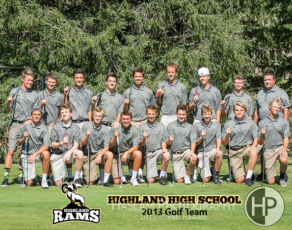2013 Highland Golf Team