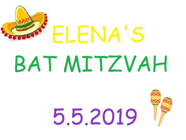 Elena's Bat Mitzvah 5.5.19