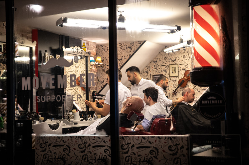 Barber shop in Mayfair.
