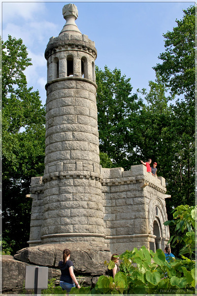 This structure sits on top of Little Round Top and provides a neat view of the valley.