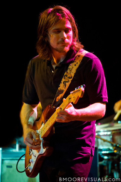 Lukas Nelson performs with his dad Willie Nelson on February 17, 2011 at Van Wezel Performing Arts Hall in Sarasota, Florida